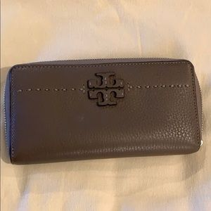 Tory Burch McGraw Continental zip wallet